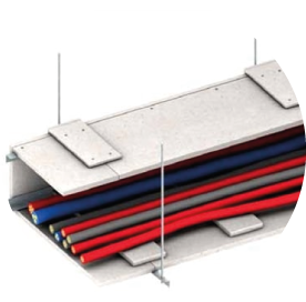 Ignifugación de conductos para cables con placas de silicato
